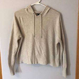 Cream Hoodie with slight color
